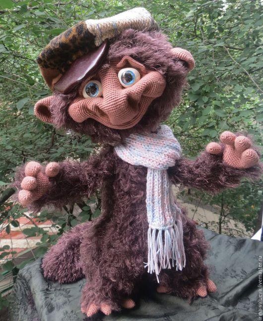 Игрушки животные, ручной работы. Ярмарка Мастеров - ручная работа. Купить обезьян Мартинос. Handmade. Коричневый, игрушка крючком
