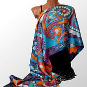 Аксессуары handmade. Livemaster - original item Silk scarf batik Pearl. Handmade.