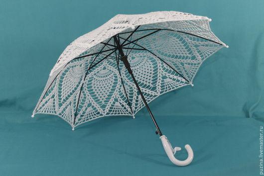 Зонты ручной работы. Ярмарка Мастеров - ручная работа. Купить Зонт Ананасы. Handmade. Белый, аксессуары для фотосессий, реквизит, свадьба