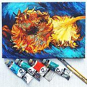 Картины и панно handmade. Livemaster - original item Painting Sunflowers Like Van Gogh. Handmade.