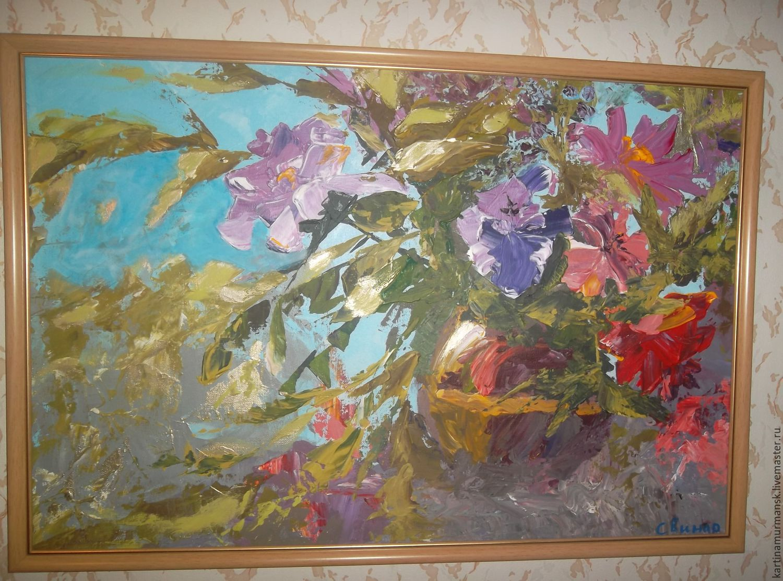 Acrylic on canvas, 40*60. Spontaneous still life.