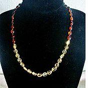 Украшения handmade. Livemaster - original item Amber beads amber natural stone jewelry for women. Handmade.