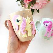Кружки ручной работы. Ярмарка Мастеров - ручная работа Кружка с пони , My little pony. Handmade.