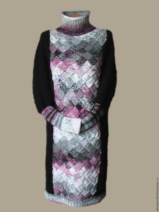 Платья ручной работы. Ярмарка Мастеров - ручная работа. Купить платье вязаное. Handmade. Платье, платье шерстяное, шерсть меринос