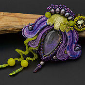 "Украшения handmade. Livemaster - original item Брошь-кулон ""Сиреневая лилия"". Handmade."