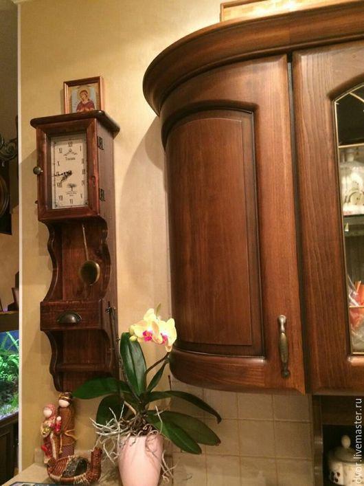 """Часы для дома ручной работы. Ярмарка Мастеров - ручная работа. Купить Часы """"Toscana"""" без искусственных червоточин. Handmade. Коричневый"""