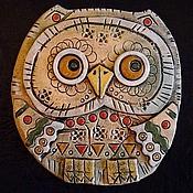 Картины и панно handmade. Livemaster - original item Ceramic mural Owl. Handmade.