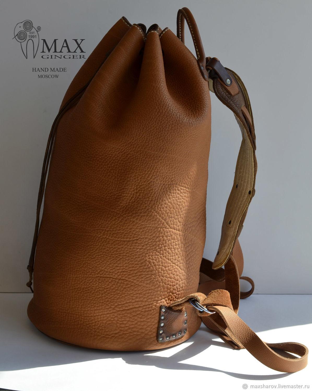 Handmade Leather Backpack - TIMUR, Backpacks, Moscow,  Фото №1
