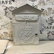 Для дома и интерьера ручной работы. Ярмарка Мастеров - ручная работа Почтовый ящик металлический белый Домик. Handmade.