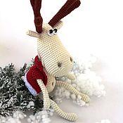 Куклы и игрушки ручной работы. Ярмарка Мастеров - ручная работа Олень. Олень вязаный Олежек,  вязаный олень, рождественский олень. Handmade.