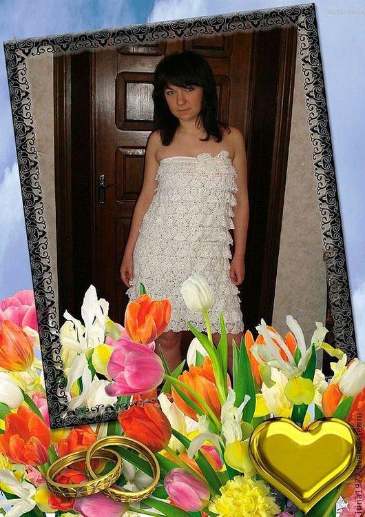 Платья ручной работы. Ярмарка Мастеров - ручная работа. Купить Платье  летнее (ананасики). Handmade. Белый, САРАФАН ВЯЗАНЫЙ