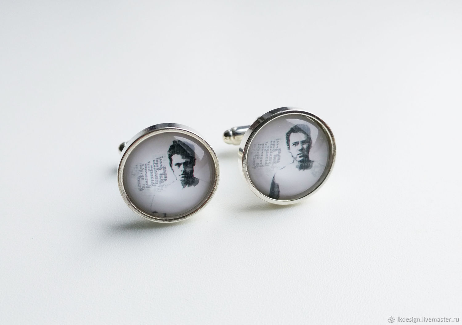 Cufflinks silver plated Fight club (large), Cuff Links, Moscow,  Фото №1