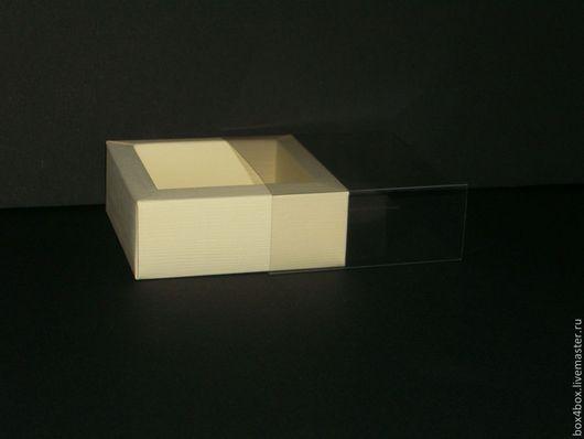 Упаковка ручной работы. Ярмарка Мастеров - ручная работа. Купить Коробочки с пластиком. Handmade. Бежевый, коробочка для подарка, коробочка на свадьбу