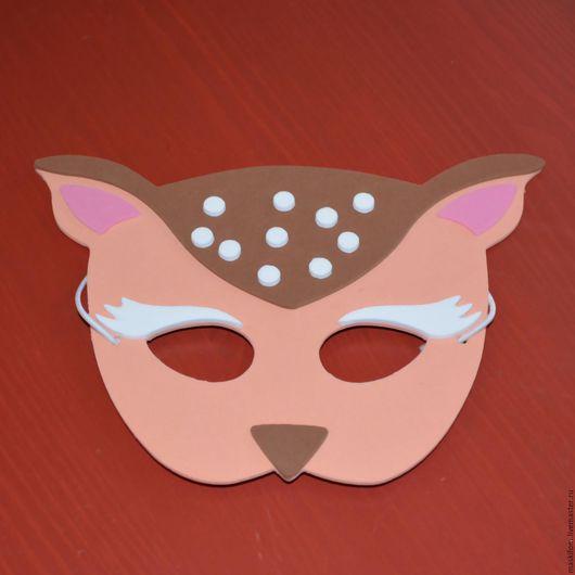 Карнавальные костюмы ручной работы. Ярмарка Мастеров - ручная работа. Купить Детская маска Олененок. Handmade. Комбинированный, карнавальная маска