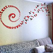 Для дома и интерьера ручной работы. Ярмарка Мастеров - ручная работа Спирали из бабочек оформление. Handmade.
