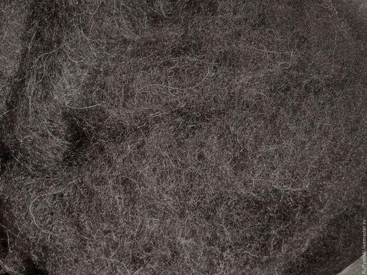 Бергшаф шерсть 29 мкм черный 50гр Тонина - 29 микрон.  Цвет - чёрный, натуральный, чуть-чуть отливает в тёмно-коричневый