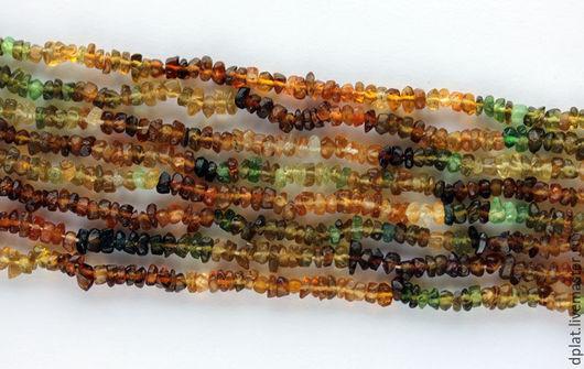 Для украшений ручной работы. Ярмарка Мастеров - ручная работа. Купить Янтарно-зеленый турмалин рондель нить (Код: бк356). Handmade.