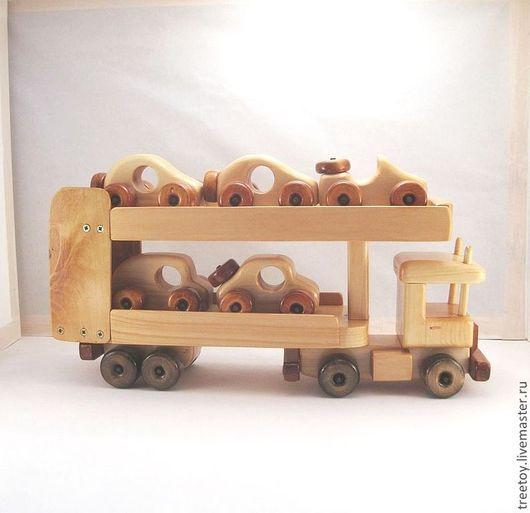 Техника ручной работы. Ярмарка Мастеров - ручная работа. Купить Автовоз. Handmade. Детская игрушка, подарок мальчику, автовоз, грузовичек