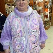 """Одежда ручной работы. Ярмарка Мастеров - ручная работа Пончо """"Сиреневый туман"""". Handmade."""