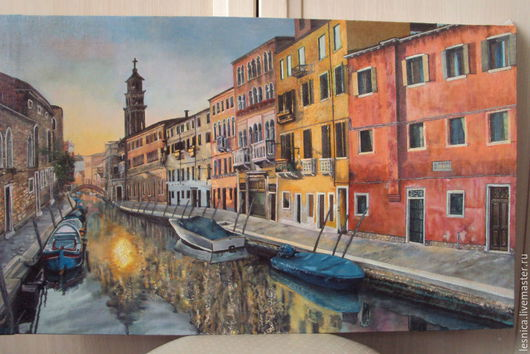 Город ручной работы. Ярмарка Мастеров - ручная работа. Купить Венеция. Handmade. Разноцветный, венеция, городской пейзаж, город, каналы