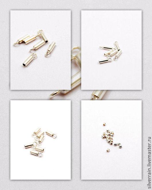 Для украшений ручной работы. Ярмарка Мастеров - ручная работа. Купить Концевики кримпы серебро 925 пробы Бали. Handmade.