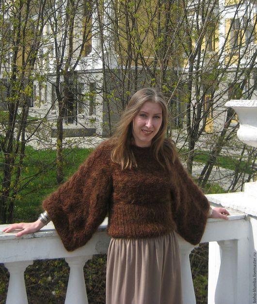 """Кофты и свитера ручной работы. Ярмарка Мастеров - ручная работа. Купить Пуловер """"Каштан"""". Handmade. Коричневый, вязание на заказ"""
