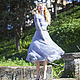 "Платья ручной работы. платье ""Сиреневый туман"". Jannetta knits  Luxury handmade. Ярмарка Мастеров. Платье спицами"