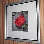 """Картины и панно ручной работы. Ярмарка Мастеров - ручная работа """"Роза на асфальте"""" вышивка крестом. Handmade."""