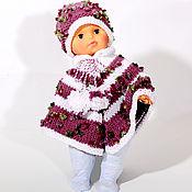 Работы для детей, ручной работы. Ярмарка Мастеров - ручная работа Пончо детское с шапочкой из объёмной пряжи. Handmade.