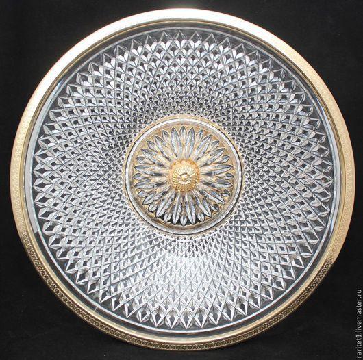 Винтажная посуда. Ярмарка Мастеров - ручная работа. Купить Ваза БОЛЬШАЯ бронза латунь хрусталь Франция 21. Handmade. Разноцветный