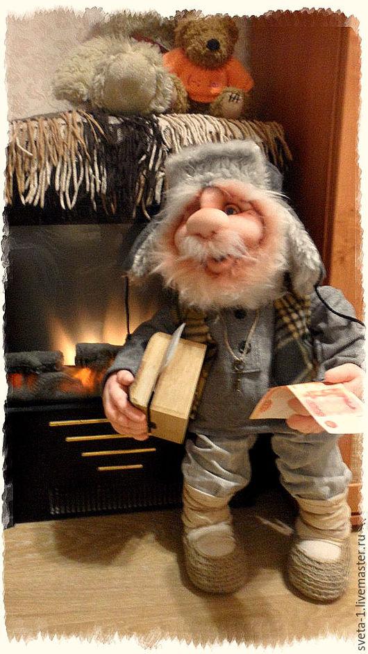 Сказочные персонажи ручной работы. Ярмарка Мастеров - ручная работа. Купить домовой. Handmade. Серый, оберег для дома, семейный очаг