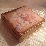 Для дома и интерьера ручной работы. Ярмарка Мастеров - ручная работа Книга-шкатулка. Handmade.