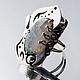 Кольца ручной работы. Серебряное кольцо с моховым агатом - Светлый лес. Авторские украшения от Cinak. Ярмарка Мастеров. Авторские украшения