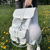 Сумки и аксессуары handmade. Livemaster - original item Womens leather backpack. Handmade.