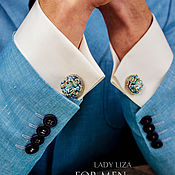 Украшения handmade. Livemaster - original item Cufflinks: Rafael. color: Mint. Cufflinks for men. Men`s jewelry.. Handmade.