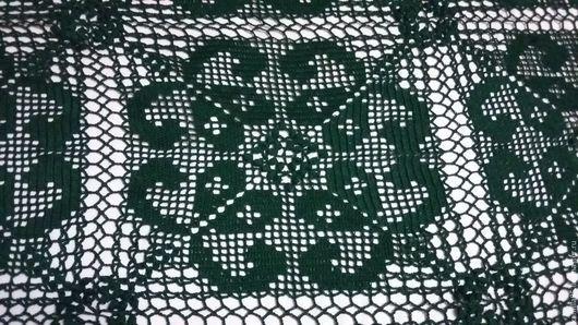 """Текстиль, ковры ручной работы. Ярмарка Мастеров - ручная работа. Купить покрывало крючком"""" Глубокий океан"""" из 100% хлопка. Handmade."""
