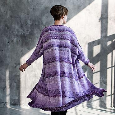 """Одежда ручной работы. Ярмарка Мастеров - ручная работа Пальто: Кардиган вязаный """"Черничный мусс"""". Handmade."""