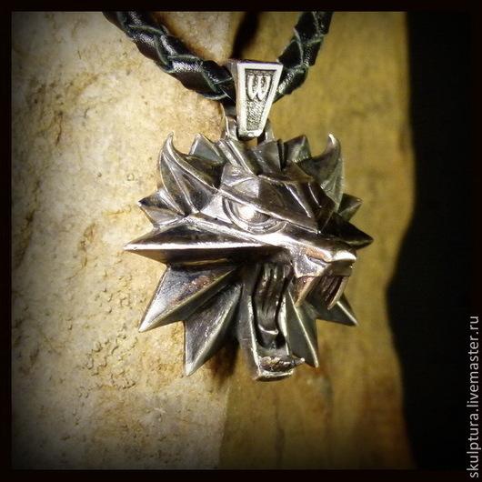 """Подарки для мужчин, ручной работы. Ярмарка Мастеров - ручная работа. Купить Кулон """"Witcher 3"""" серебро 925. Handmade."""