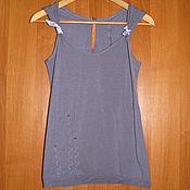 Винтаж handmade. Livemaster - original item Lilac top France Cop Copine, purple t-shirt. Handmade.