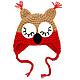 """Шапки и шарфы ручной работы. шапочка """"Совушка"""" (детская шапка сова теплая зимняя с ушками). БЕСПЛАТНАЯ ДОСТАВКА (Юлия) вязание. Интернет-магазин Ярмарка Мастеров."""