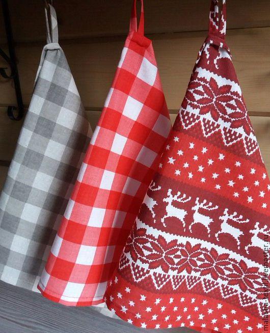 """Кухня ручной работы. Ярмарка Мастеров - ручная работа. Купить Кухонные полотенца """"Скандинавия"""" красные. Handmade. Кухонные полотенца, красный"""