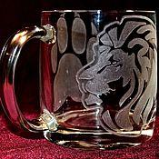 Посуда handmade. Livemaster - original item The king of beasts. tea mug.. Handmade.