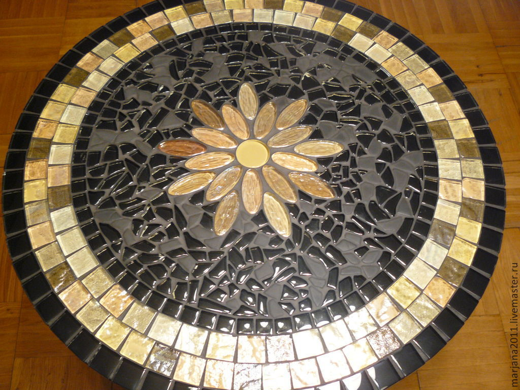 Furniture handmade. Livemaster - handmade. Buy Pridivanny table with a mosaic of 'the wishing Star'.Gold