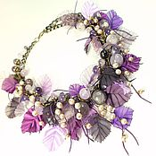 Украшения handmade. Livemaster - original item In the shade Pearl Plum. Necklace of natural pearls and amethysts. Handmade.
