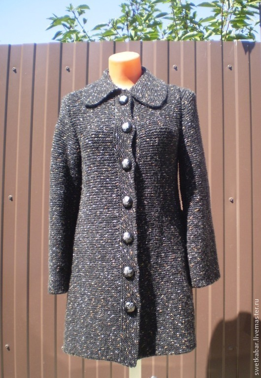 """Верхняя одежда ручной работы. Ярмарка Мастеров - ручная работа. Купить Пальто """" Ретро"""". Handmade. Черный, пальто демисезонное"""