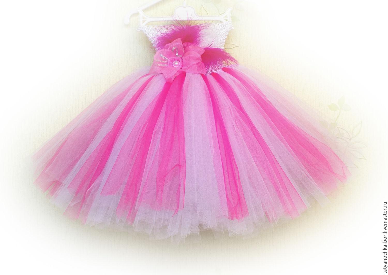 Цветочки из сетки на платье
