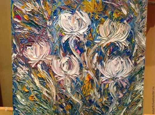 Пейзаж ручной работы. Ярмарка Мастеров - ручная работа. Купить Цветочный орнамент 2.. Handmade. Белый, недорогие подарки