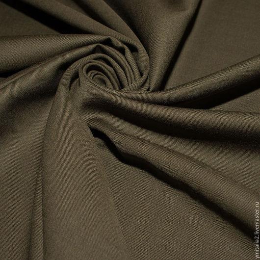 Шитье ручной работы. Ярмарка Мастеров - ручная работа. Купить Шерсть плательно-костюмная ANTONIO MARRAS  хаки. Handmade.