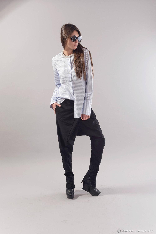 Loose Pants/Extravagant pants/Tapered Pants/Wrapped Pants/F1842, Pants, Sofia,  Фото №1