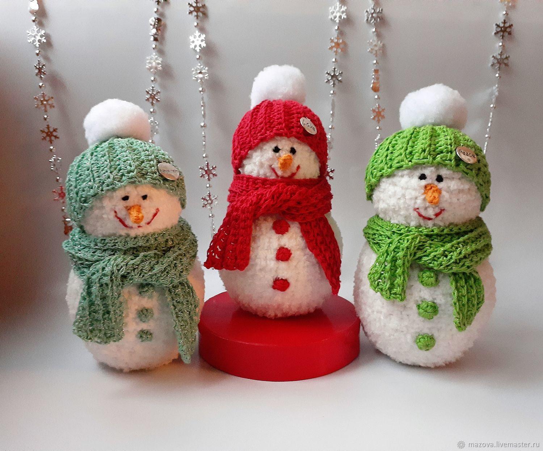Три снеговичка (резерв), Мягкие игрушки, Химки,  Фото №1